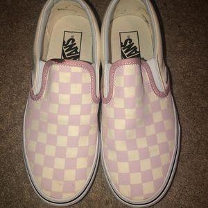 Slip on pink Vans